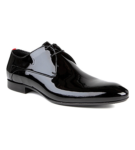 HUGO BOSS Evimio patent Derby shoes (Black