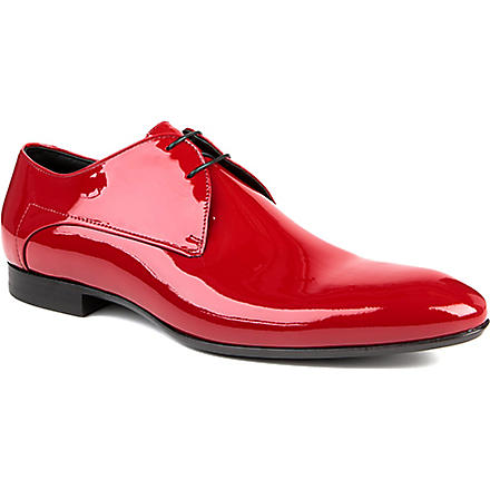 HUGO BOSS Evimio patent Derby shoes (Red