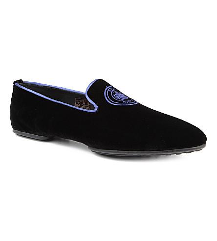 HUGO BOSS Embroidered relai slippers (Black