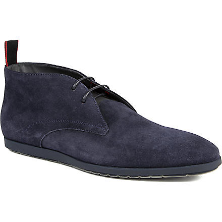 HUGO BOSS Palvion two-eye suede chukka boots (Navy