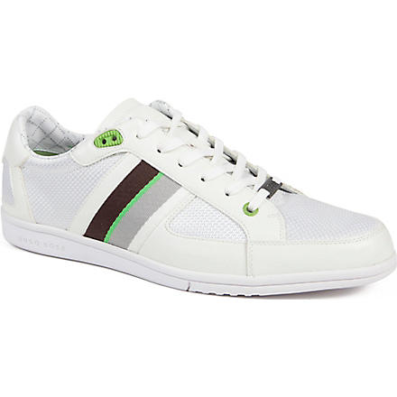HUGO BOSS O'shea contrast trainers (White