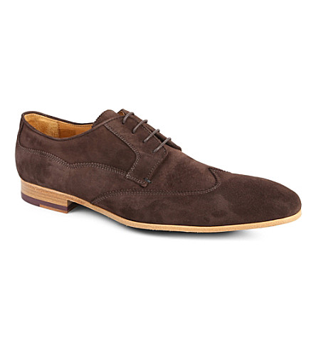 PAUL SMITH Wallace slim wingtip Derby shoes (Brown