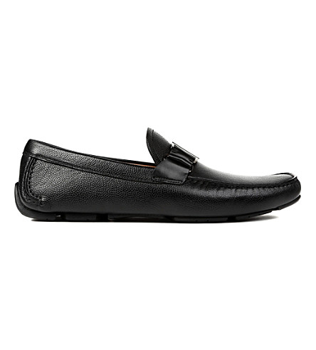SALVATORE FERRAGAMO Sardenga buckle driver shoes (Black