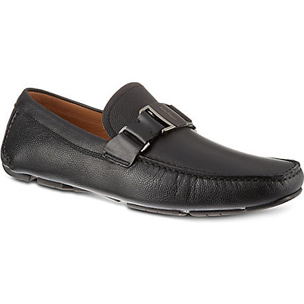 FERRAGAMO Sardenga buckle driver shoes (Black