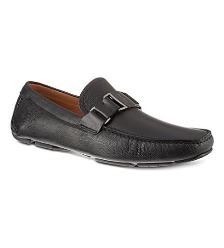 FERRAGAMO Sardenga buckle driver shoes (Black