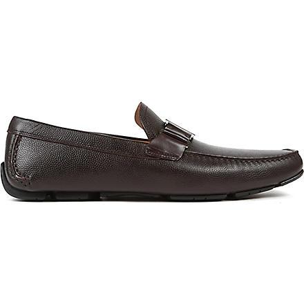 FERRAGAMO Sardenga buckle driver shoes (Brown