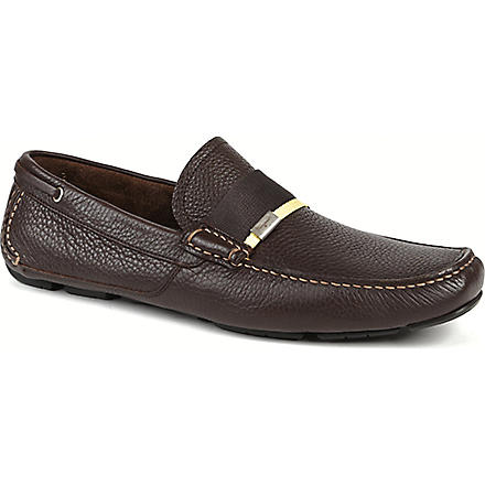 FERRAGAMO Rio web driver shoes (Brown