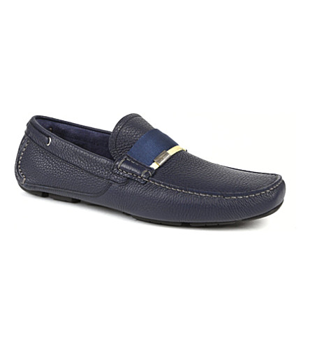 FERRAGAMO Rio web driver shoes (Navy