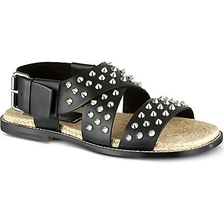 D SQUARED Studded strap sandals (Black