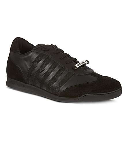 D SQUARED Retro striped trainers (Black