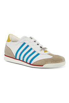 D SQUARED Retro striped trainers