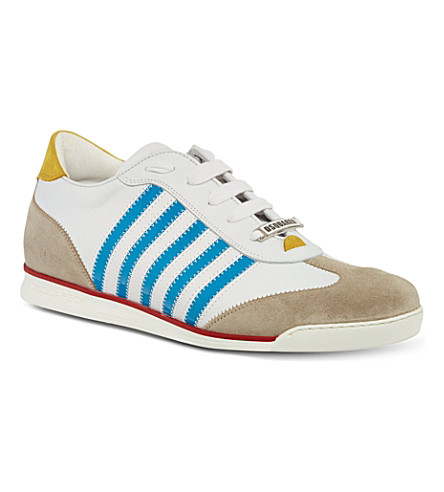 D SQUARED Retro striped trainers (White/comb