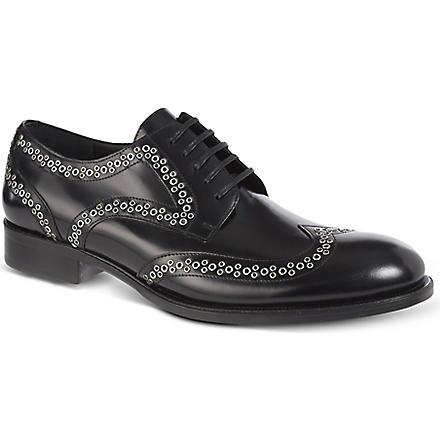 D SQUARED Stud wingcap derby shoes (Black