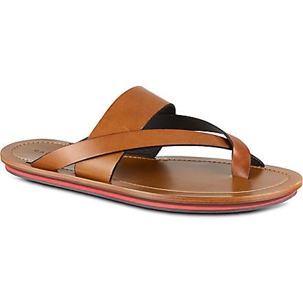 DAN WARD Leather sandals (Tan