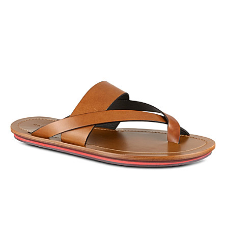 DAN WARD Leather sandals (Tan
