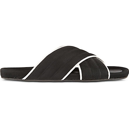 DAN WARD Cross-over sandals (Black