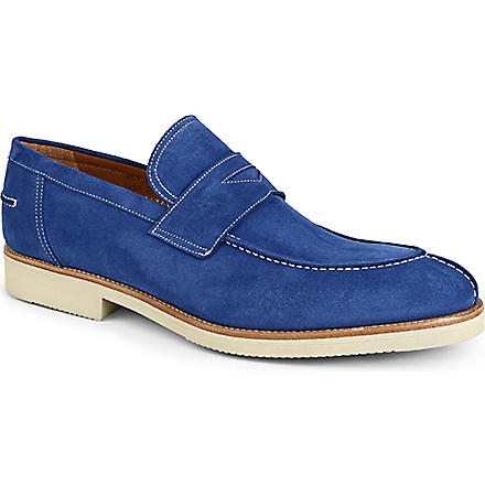 STEMAR Neil suede loafers (Blue