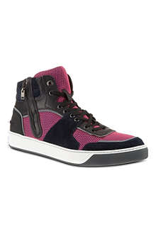 LANVIN Zip mesh high tops