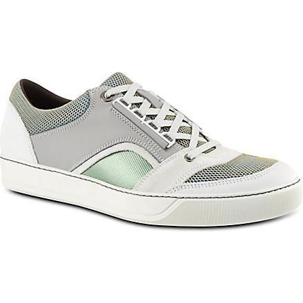 LANVIN Lo top mesh trainers (Grey