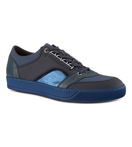 LANVIN Lo top mesh trainers (Navy