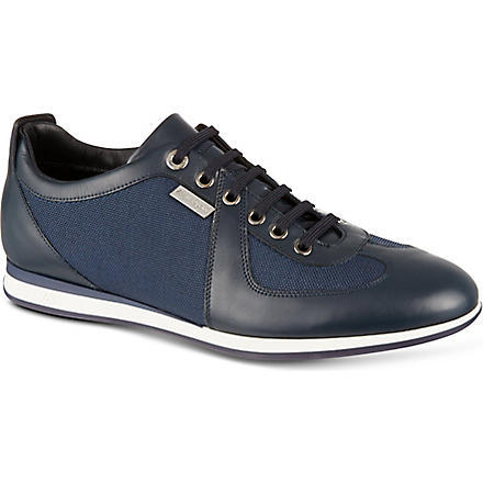 ERMENEGILDO ZEGNA Arrow Lo-Pro trainers (Navy