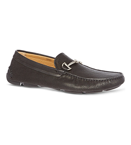 GIORGIO ARMANI Horsebit driving shoes (Black