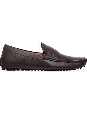 GUCCI Diamond apron driver shoes