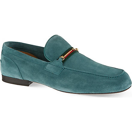 GUCCI Maffeo suede loafers (Green