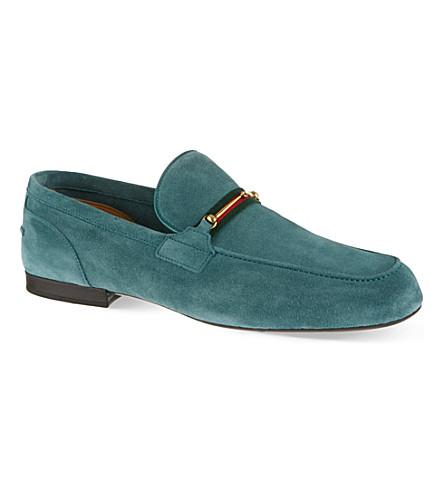 GUCCI Maffeo suede loafers (Green