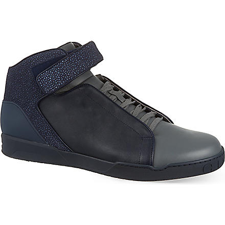 GUCCI Mel strap high tops (Grey/other
