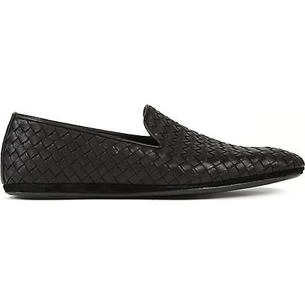 BOTTEGA VENETA Woven outdoor slippers (Black