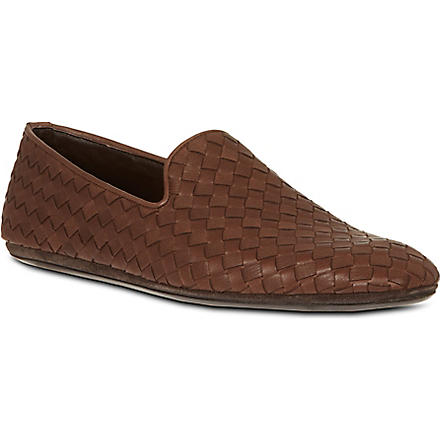 BOTTEGA VENETA Woven slippers (Brown