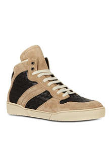 BOTTEGA VENETA Woven leather high tops