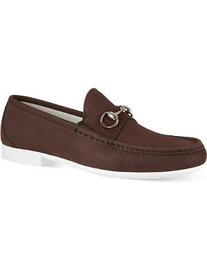GUCCI Rafer horsebit boat shoes