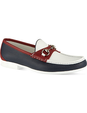 GUCCI Rafer colourblock boat shoes