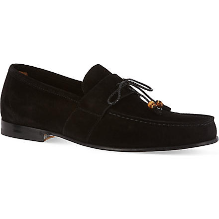 GUCCI Rupert driving slippers (Black