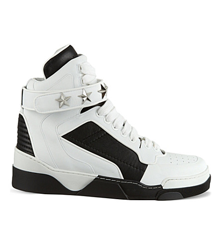 GIVENCHY Tyson Star high-top leather trainers (White