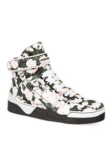 GIVENCHY Floral high-top trainers