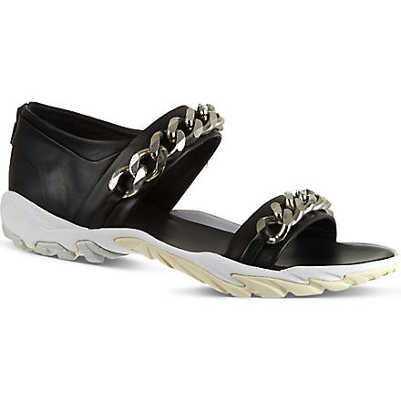 GIVENCHY Chain sandals (Black