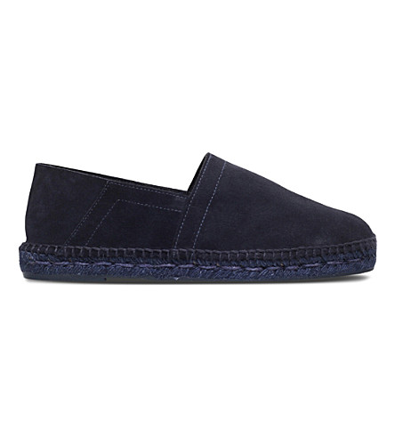 TOM FORD Classic suede espadrilles (Navy