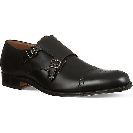 GRENSON Ellery Double monk shoes (Black