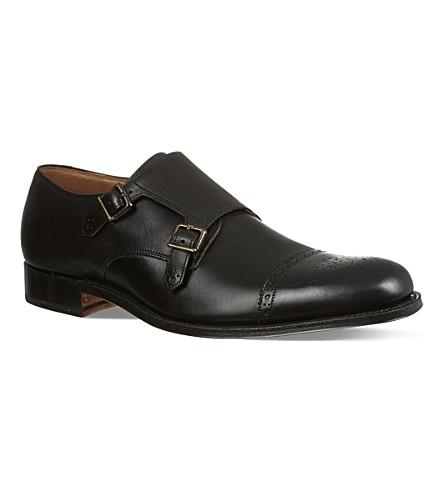 GRENSON Ellery Double monk shoes (Black