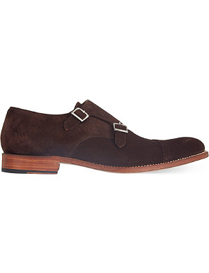 GRENSON Ellery suede monk shoes