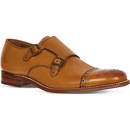 GRENSON Ellery Double monk shoes (Tan