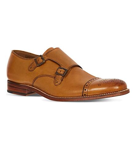 GRENSON Ellery Double monk shoes (Tan