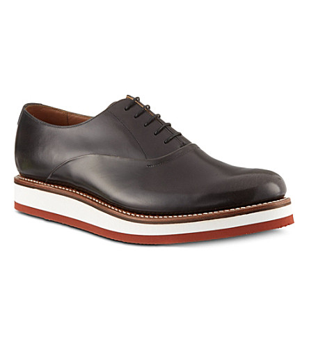 GRENSON Sammy wedge Oxford shoes (Grey