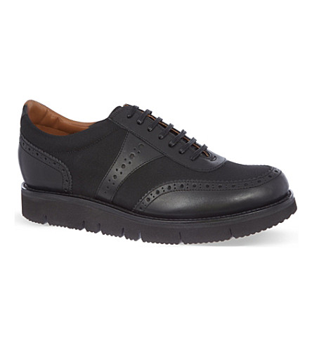 GRENSON Magnus wedge trainers (Black