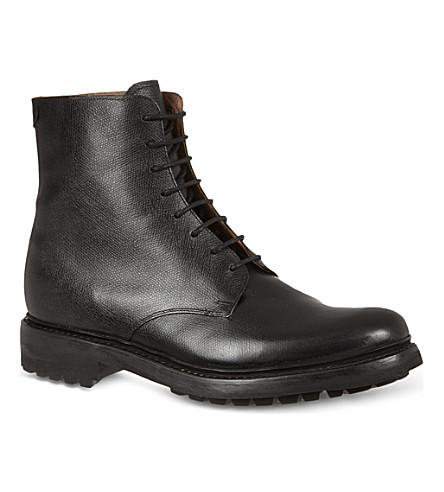 GRENSON Hadley commando boots (Black