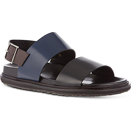 MARNI Leather strap sandals (Blue/drk.c