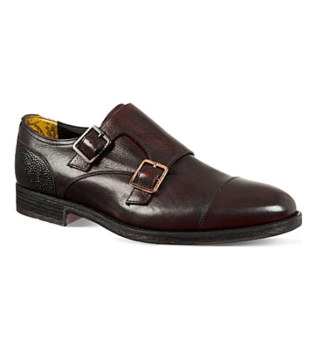 TED BAKER Mazzana monk shoes (Red/dark